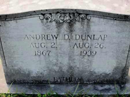 DUNLAP, ANDREW D - Miller County, Arkansas   ANDREW D DUNLAP - Arkansas Gravestone Photos