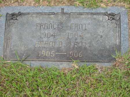 FANT, HAROLD - Miller County, Arkansas   HAROLD FANT - Arkansas Gravestone Photos