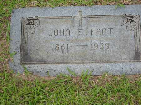 FANT, JOHN E. - Miller County, Arkansas | JOHN E. FANT - Arkansas Gravestone Photos