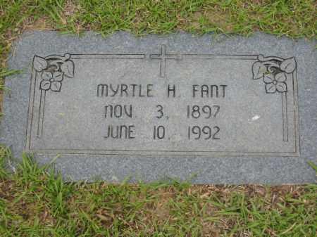 FANT, MYRTLE H. - Miller County, Arkansas | MYRTLE H. FANT - Arkansas Gravestone Photos