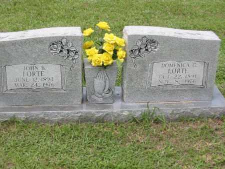 FORTE, JOHN B. - Miller County, Arkansas | JOHN B. FORTE - Arkansas Gravestone Photos