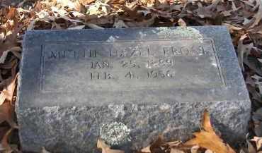FROST, METTIE HAZEL - Miller County, Arkansas | METTIE HAZEL FROST - Arkansas Gravestone Photos
