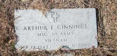 GINNINGS  (VETERAN VIET), ARTHUR E. - Miller County, Arkansas | ARTHUR E. GINNINGS  (VETERAN VIET) - Arkansas Gravestone Photos