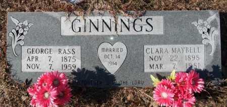 GINNINGS, CLARA MAYBELL - Miller County, Arkansas | CLARA MAYBELL GINNINGS - Arkansas Gravestone Photos