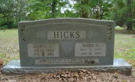 HICKS, CERYL C - Miller County, Arkansas | CERYL C HICKS - Arkansas Gravestone Photos