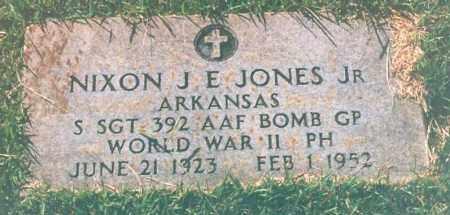 JONES, JR. (VETERAN WWII), NIXON J. E. - Miller County, Arkansas | NIXON J. E. JONES, JR. (VETERAN WWII) - Arkansas Gravestone Photos