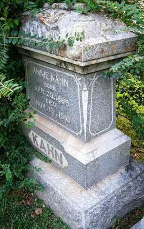 KAHN, ANNIE - Miller County, Arkansas | ANNIE KAHN - Arkansas Gravestone Photos