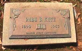 KATZ, RUBY  B - Miller County, Arkansas | RUBY  B KATZ - Arkansas Gravestone Photos
