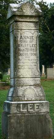 LEE, ANNIE (CLOSEUP) - Miller County, Arkansas | ANNIE (CLOSEUP) LEE - Arkansas Gravestone Photos