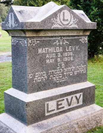 LEVY, MATHILDA - Miller County, Arkansas   MATHILDA LEVY - Arkansas Gravestone Photos