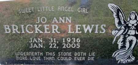 BRICKER LEWIS, JO ANN - Miller County, Arkansas | JO ANN BRICKER LEWIS - Arkansas Gravestone Photos