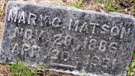 MATSON, MARY C. - Miller County, Arkansas   MARY C. MATSON - Arkansas Gravestone Photos