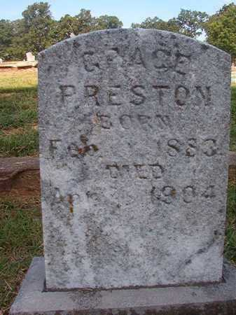 PRESTON, GRACE - Miller County, Arkansas   GRACE PRESTON - Arkansas Gravestone Photos