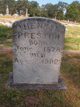 PRESTON, HENRY - Miller County, Arkansas | HENRY PRESTON - Arkansas Gravestone Photos