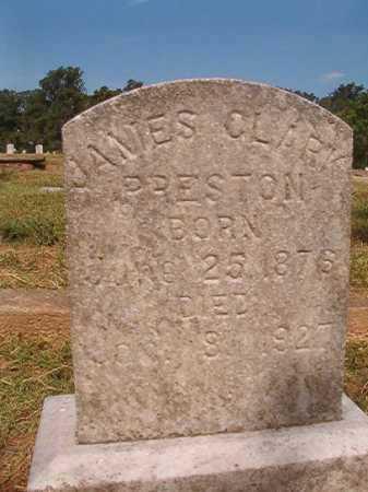 PRESTON, JAMES CLARK - Miller County, Arkansas | JAMES CLARK PRESTON - Arkansas Gravestone Photos