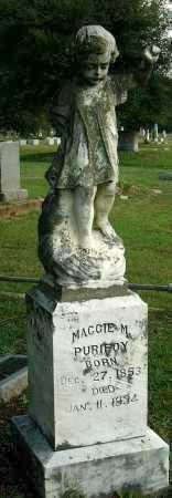 PURIFOY, MAGGIE M. - Miller County, Arkansas | MAGGIE M. PURIFOY - Arkansas Gravestone Photos