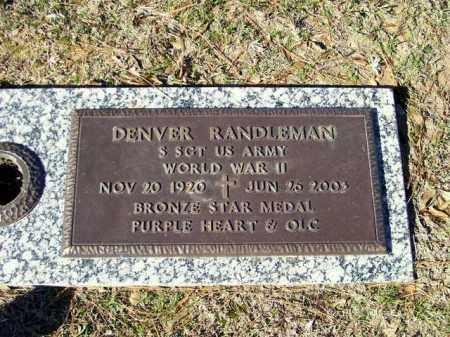 RANDLEMAN (VETERAN WWII), DENVER - Miller County, Arkansas | DENVER RANDLEMAN (VETERAN WWII) - Arkansas Gravestone Photos
