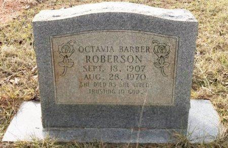 BARBER ROBERSON, OCTAVIA - Miller County, Arkansas   OCTAVIA BARBER ROBERSON - Arkansas Gravestone Photos