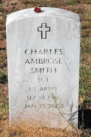 SMITH (VETERAN), CHARLES AMBROSE - Miller County, Arkansas | CHARLES AMBROSE SMITH (VETERAN) - Arkansas Gravestone Photos