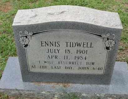 TIDWELL, ENNIS - Miller County, Arkansas | ENNIS TIDWELL - Arkansas Gravestone Photos