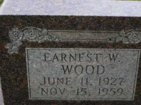 WOOD, EARNEST W - Miller County, Arkansas | EARNEST W WOOD - Arkansas Gravestone Photos