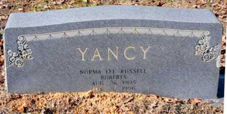 RUSSELL YANCY, NORMA LEE - Miller County, Arkansas | NORMA LEE RUSSELL YANCY - Arkansas Gravestone Photos