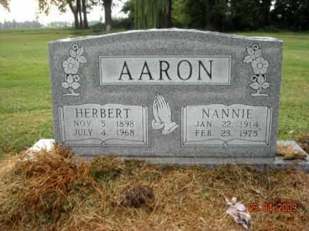 AARON, HERBERT - Mississippi County, Arkansas | HERBERT AARON - Arkansas Gravestone Photos