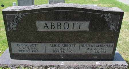 ABBOTT, D B - Mississippi County, Arkansas | D B ABBOTT - Arkansas Gravestone Photos