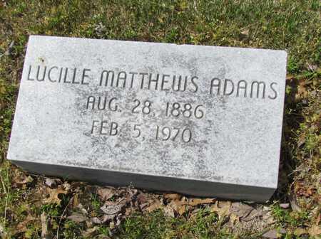 ADAMS, LUCILLE - Mississippi County, Arkansas | LUCILLE ADAMS - Arkansas Gravestone Photos