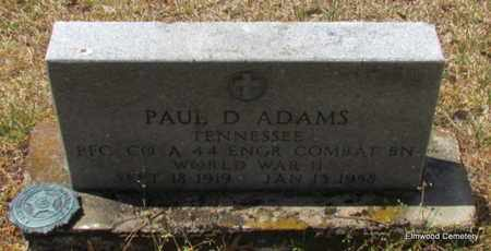 ADAMS (VETERAN WWII), PAUL D - Mississippi County, Arkansas | PAUL D ADAMS (VETERAN WWII) - Arkansas Gravestone Photos