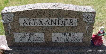 ALEXANDER, PEARL - Mississippi County, Arkansas | PEARL ALEXANDER - Arkansas Gravestone Photos