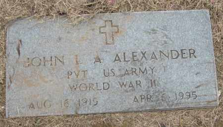 ALEXANDER (VETERAN WWII), JOHN L A - Mississippi County, Arkansas | JOHN L A ALEXANDER (VETERAN WWII) - Arkansas Gravestone Photos