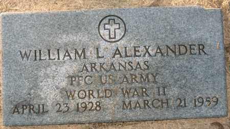 ALEXANDER (VETERAN WWII), WILLIAM L - Mississippi County, Arkansas   WILLIAM L ALEXANDER (VETERAN WWII) - Arkansas Gravestone Photos