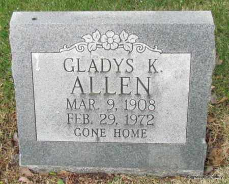 ALLEN, GLADYS K - Mississippi County, Arkansas | GLADYS K ALLEN - Arkansas Gravestone Photos
