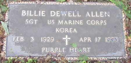 ALLEN (VETERAN KOR), BILLIE DEWELL - Mississippi County, Arkansas   BILLIE DEWELL ALLEN (VETERAN KOR) - Arkansas Gravestone Photos
