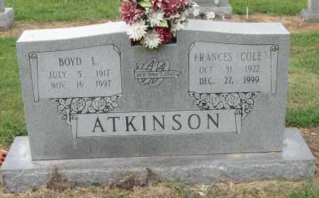 COLE ATKINSON, FRANCES - Mississippi County, Arkansas | FRANCES COLE ATKINSON - Arkansas Gravestone Photos