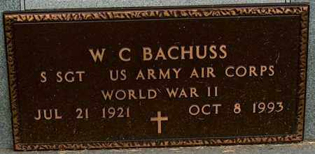 BACHUSS (VETERAN WWII), W C - Mississippi County, Arkansas   W C BACHUSS (VETERAN WWII) - Arkansas Gravestone Photos