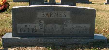 BARNES, KERMAN A - Mississippi County, Arkansas | KERMAN A BARNES - Arkansas Gravestone Photos