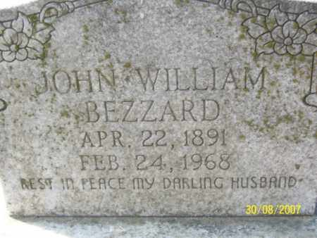 BEZZARD, JOHN WILLIAM - Mississippi County, Arkansas | JOHN WILLIAM BEZZARD - Arkansas Gravestone Photos