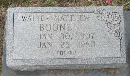BOONE, WALTER MATTHEW - Mississippi County, Arkansas | WALTER MATTHEW BOONE - Arkansas Gravestone Photos