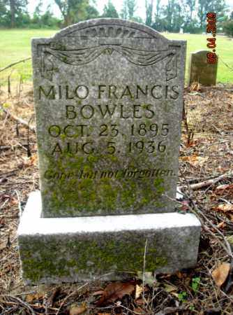 BOWLES, MILO FRANCIS - Mississippi County, Arkansas | MILO FRANCIS BOWLES - Arkansas Gravestone Photos