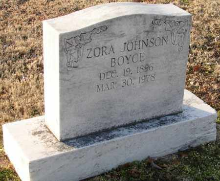JOHNSON BOYCE, ZORA - Mississippi County, Arkansas | ZORA JOHNSON BOYCE - Arkansas Gravestone Photos
