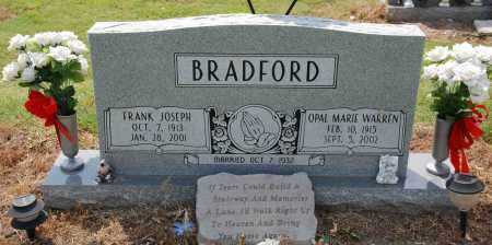 WARREN BRADFORD, OPAL MARIE - Mississippi County, Arkansas | OPAL MARIE WARREN BRADFORD - Arkansas Gravestone Photos