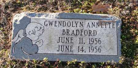BRADFORD, GWENDOLYN ANNETTE - Mississippi County, Arkansas | GWENDOLYN ANNETTE BRADFORD - Arkansas Gravestone Photos