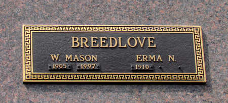BREEDLOVE, W MASON - Mississippi County, Arkansas | W MASON BREEDLOVE - Arkansas Gravestone Photos