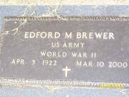 BREWER (VETERAN WWII), EDFORD M. - Mississippi County, Arkansas | EDFORD M. BREWER (VETERAN WWII) - Arkansas Gravestone Photos