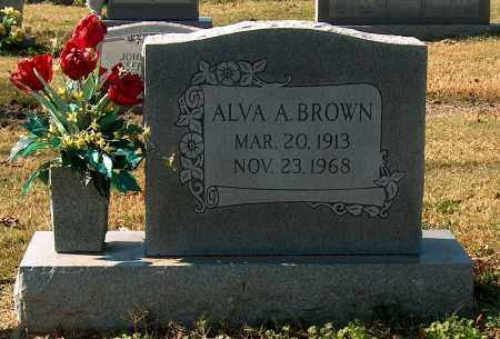 BROWN, ALVA A - Mississippi County, Arkansas | ALVA A BROWN - Arkansas Gravestone Photos