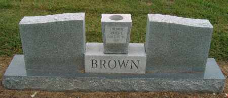 BROWN, JAMES E (BACK OF STONE) - Mississippi County, Arkansas   JAMES E (BACK OF STONE) BROWN - Arkansas Gravestone Photos