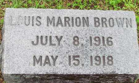 BROWN, LOUIS MARION - Mississippi County, Arkansas | LOUIS MARION BROWN - Arkansas Gravestone Photos