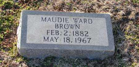 WARD BROWN, MAUDIE - Mississippi County, Arkansas   MAUDIE WARD BROWN - Arkansas Gravestone Photos